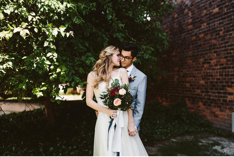 detroit courtyard wedding