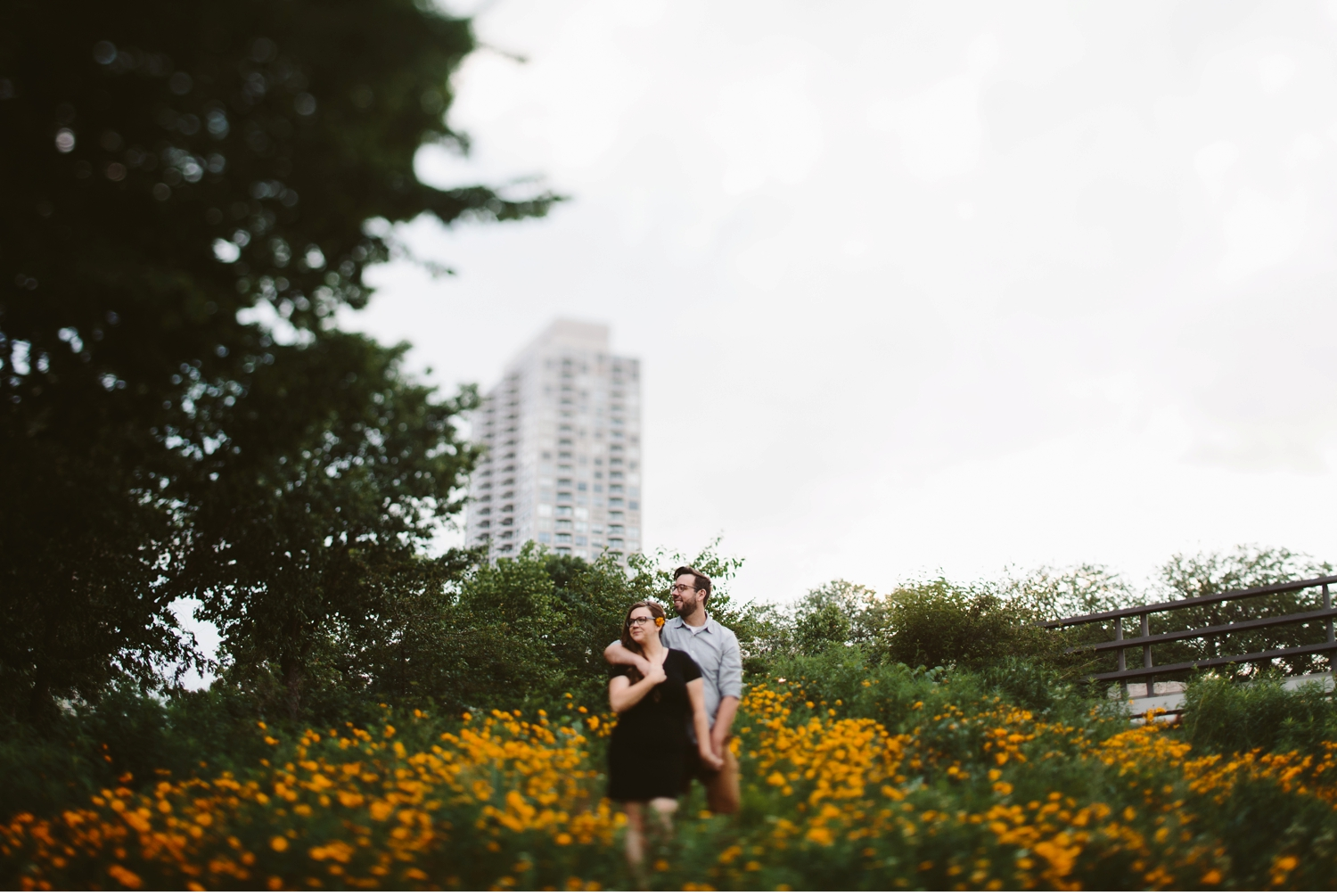 grand rapids floral engagement shoot