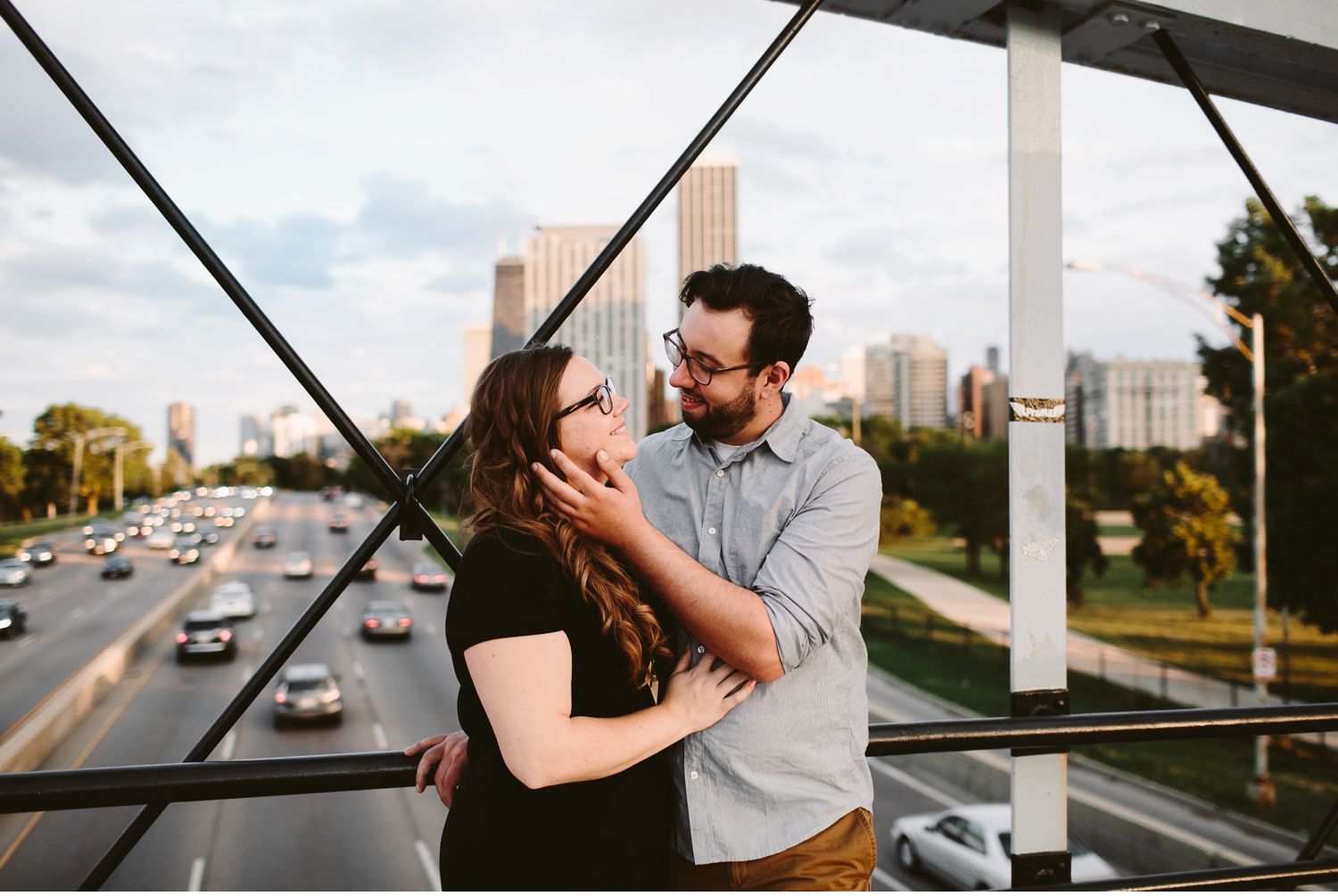 grand rapids skyline engagement shoot