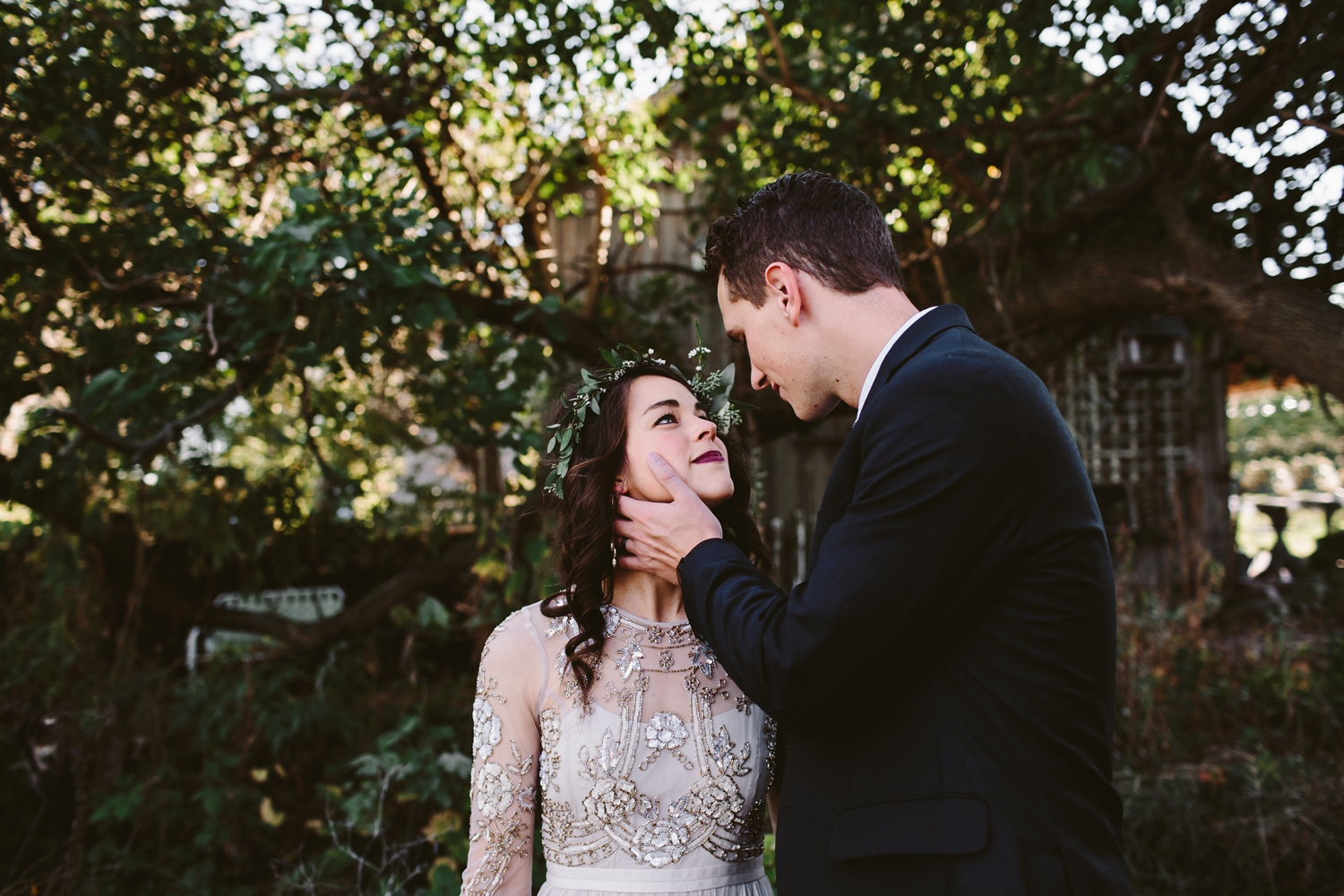 intimate bohemian grand rapids wedding