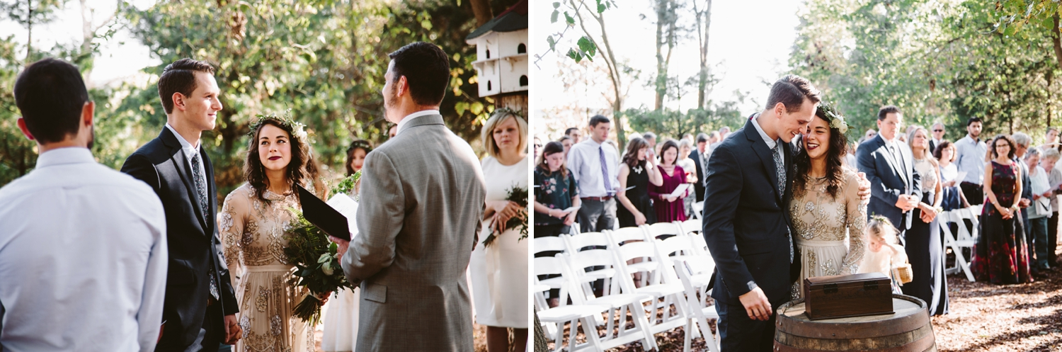 wedding ceremony at wisconsin farm at dover venue