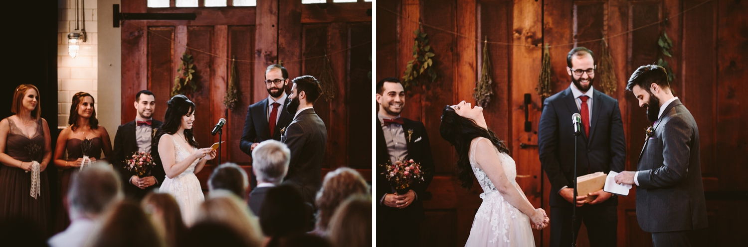 wedding ceremony at firehouse chicago