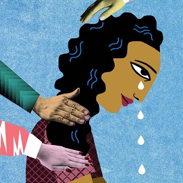 Sorrow at work #grief #comfort #encourage #oktobesad  #illustration #style #mariarsymondsdotter #editorial #sadness #thatslife#redaktionellillustration #vision #instagood