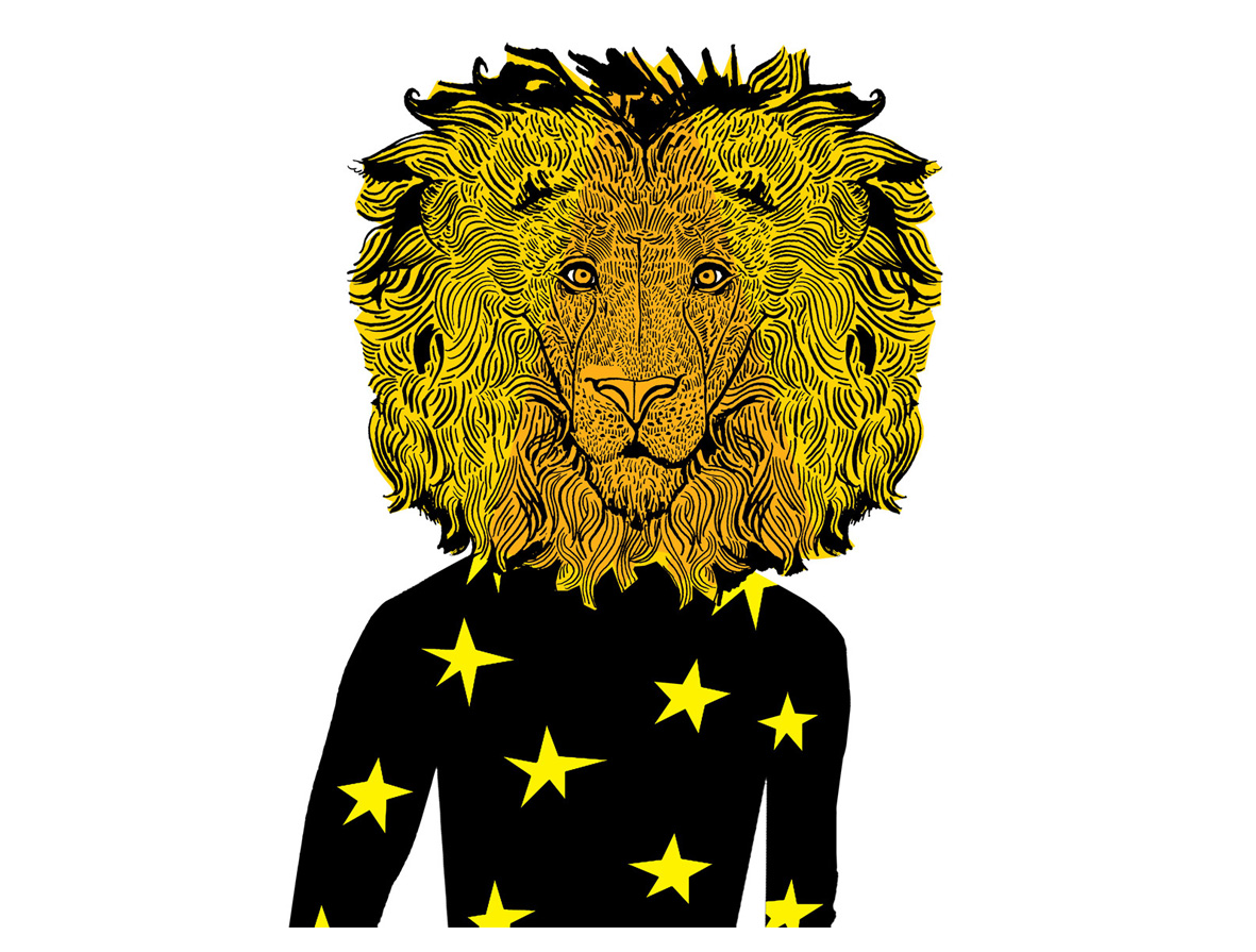 Lion character for a kids poster