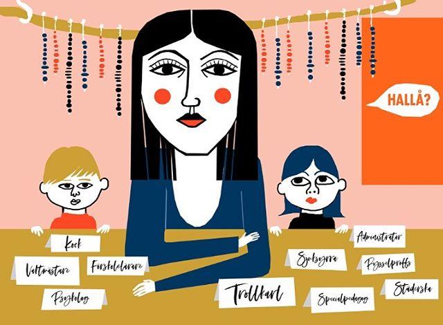 """Förskolelärarna slits ut av att vara en för allt. Som det är nu tvingas de bort från den viktiga uppgiften att tänka på barnens individuella utveckling vilket de faktiskt utbildats för. Mer tid önskas för att """"bara"""" vara med barnen! #stress #otillräcklig #förskolemiljö #förskola #förskollärarprogrammet #förskollärare #förskoleupproret #frustration #framtid #framtiden #illustration #editorial #redaktionellillustration #visuellkommunikation #mariaraymondsdotter #instagood"""