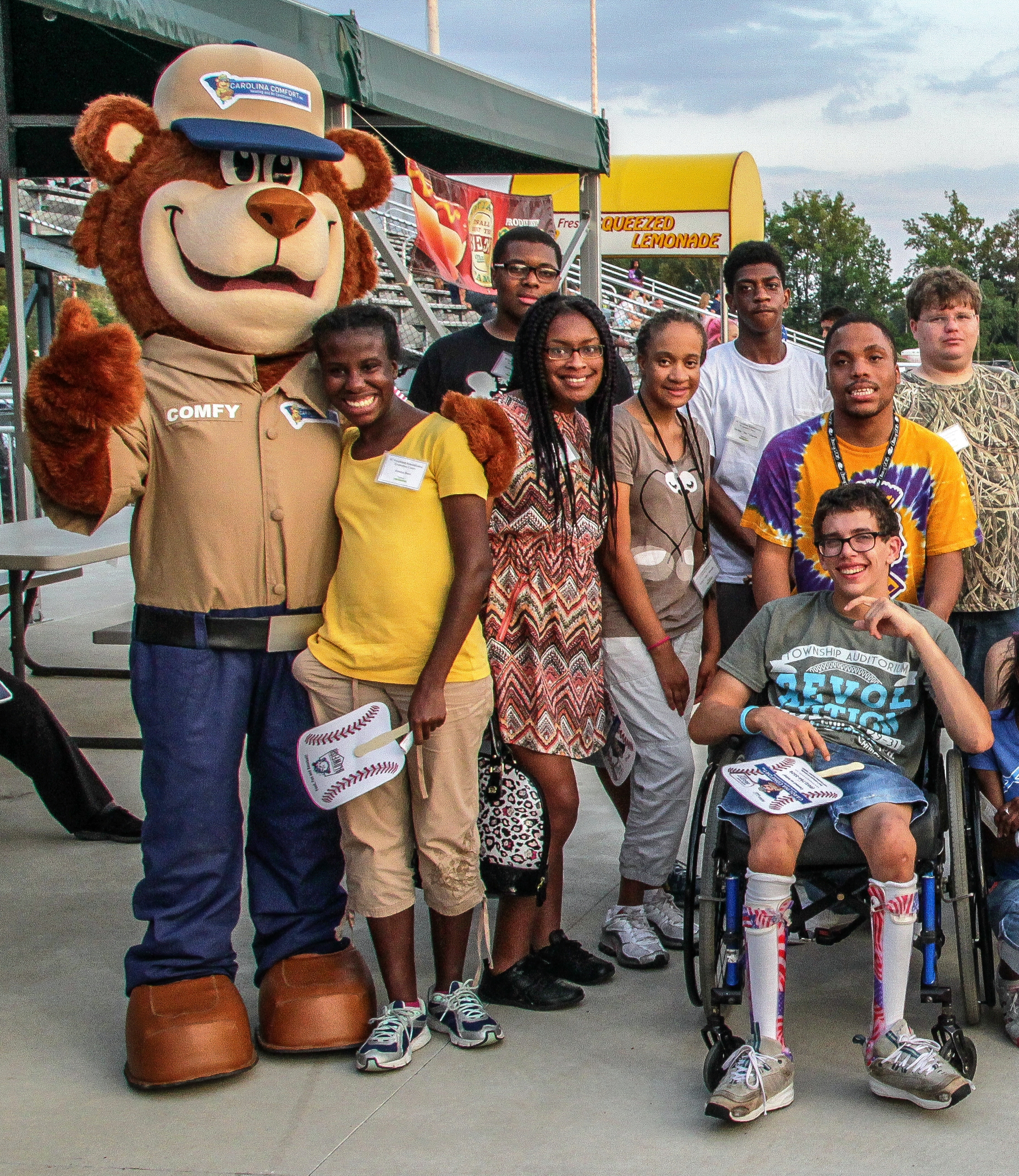 STEPS students at Lexington County baseball stadium