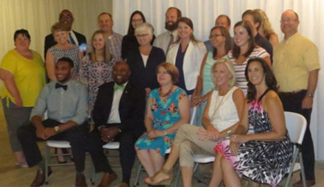 Photo: Business Development Specialist Byron Smith (front row, second from left) recently graduated from Leadership Laurens County. Leadership Laurens County is a program to develop a corps of informed committees and qualified individuals capable of providing dynamic leadership to Laurens County.