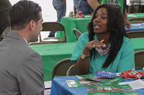 Attendees network at the 1st Annual Camden Area Business Cookout.