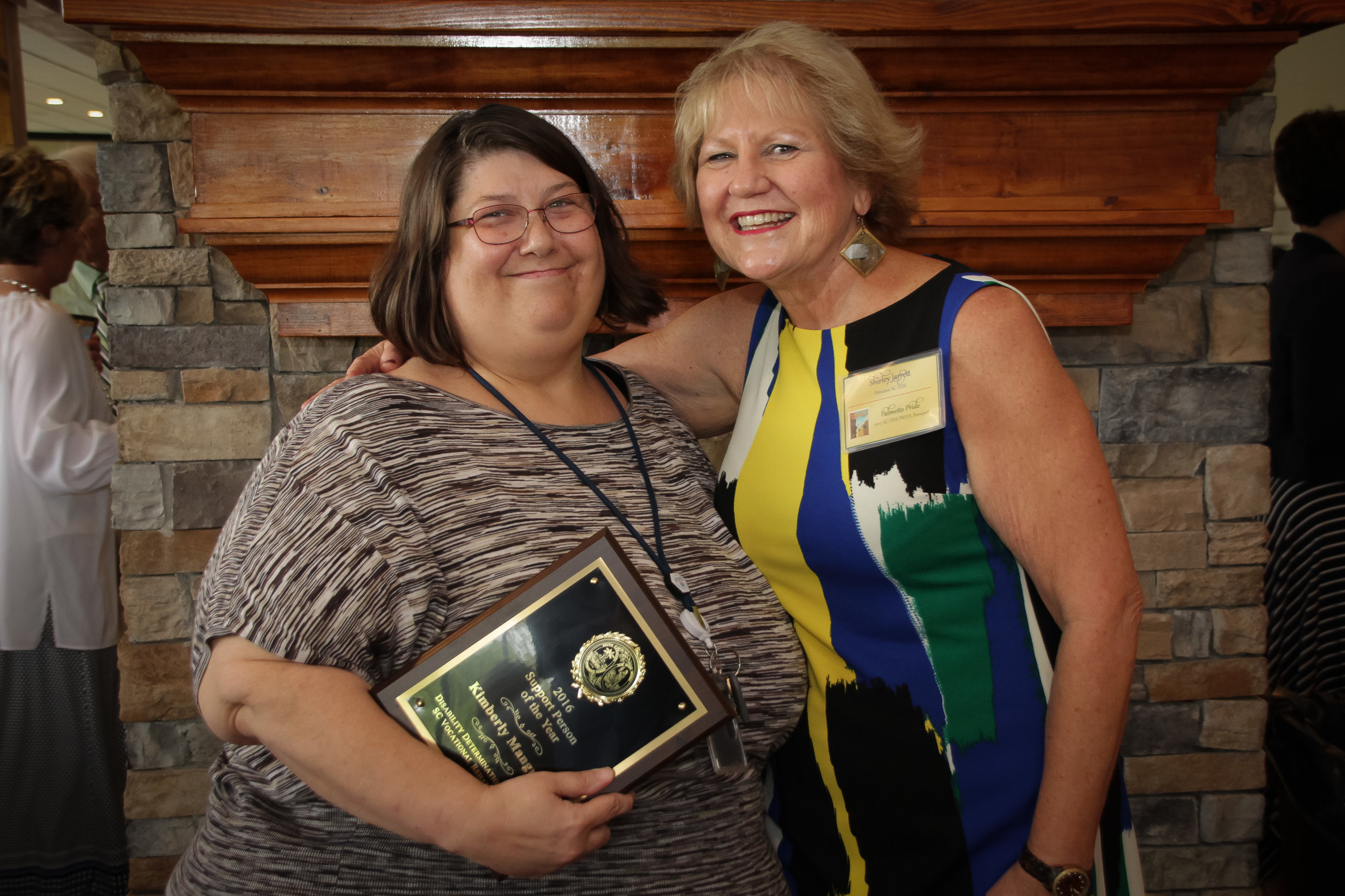 Support Person of the Year  Kimberly Mangrum - Charleston DDS Shirley Jarrett, Disability Determination Services (DDS) Director