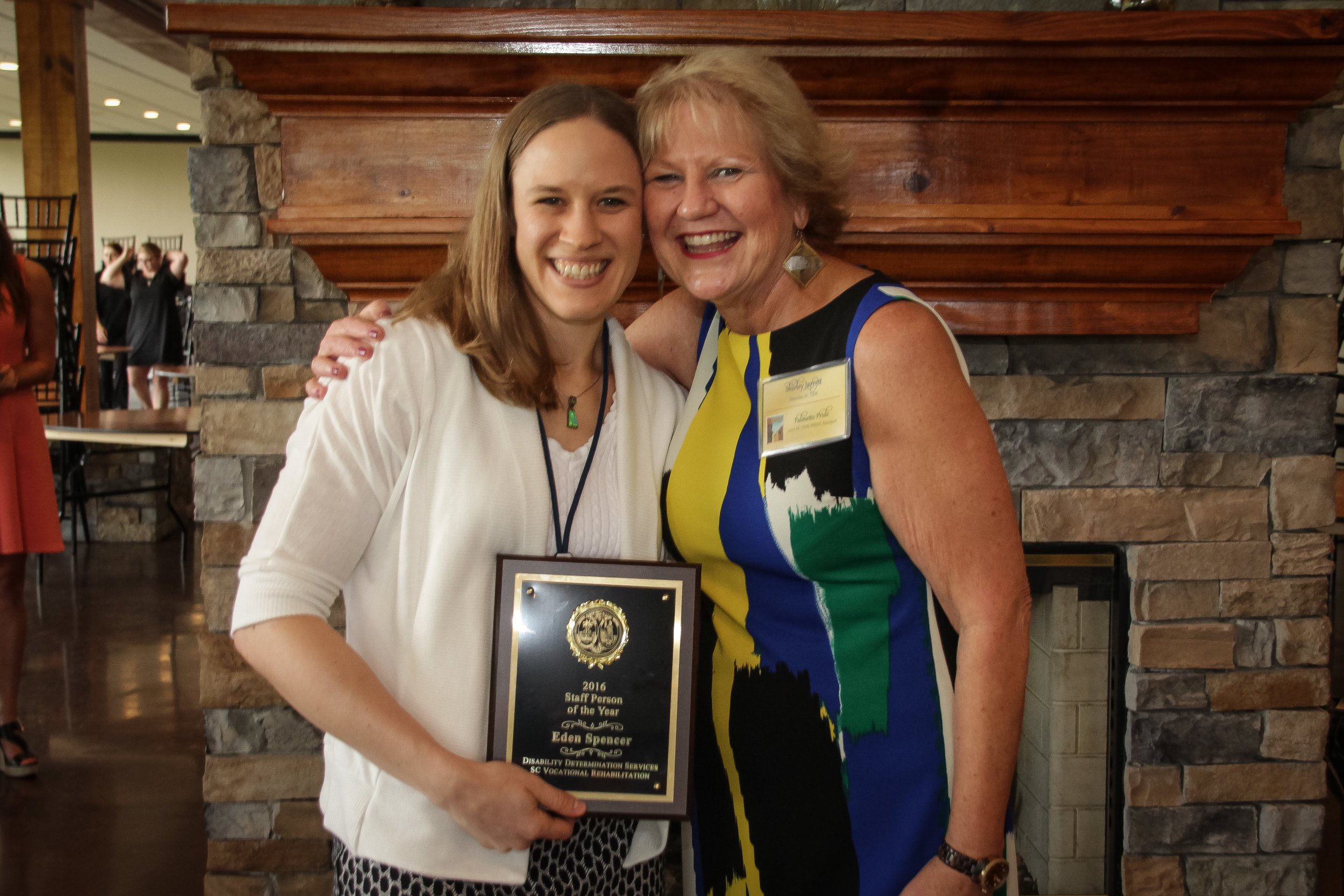 Staff Person of the Year  Eden Spencer - Greenville DDS Shirley Jarrett, Disability Determination Services (DDS) Director