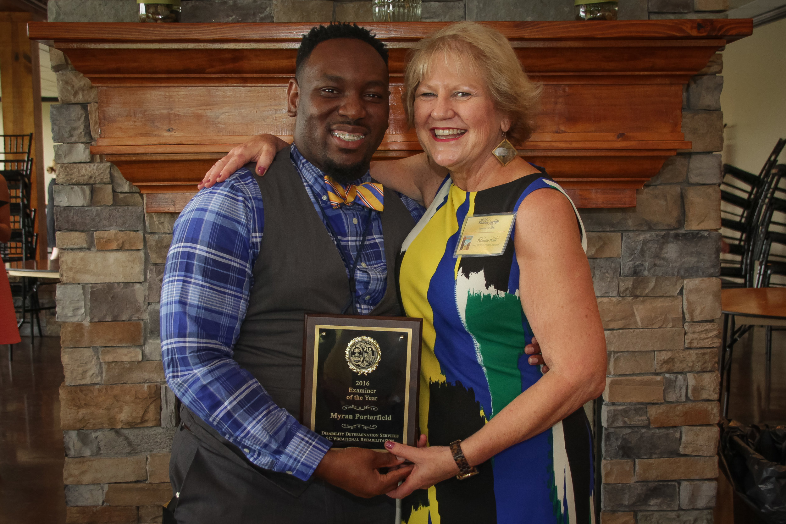 Examiner of the Year  Myran Porterfield - Columbia DDS Shirley Jarrett, Disability Determination Services (DDS) Director