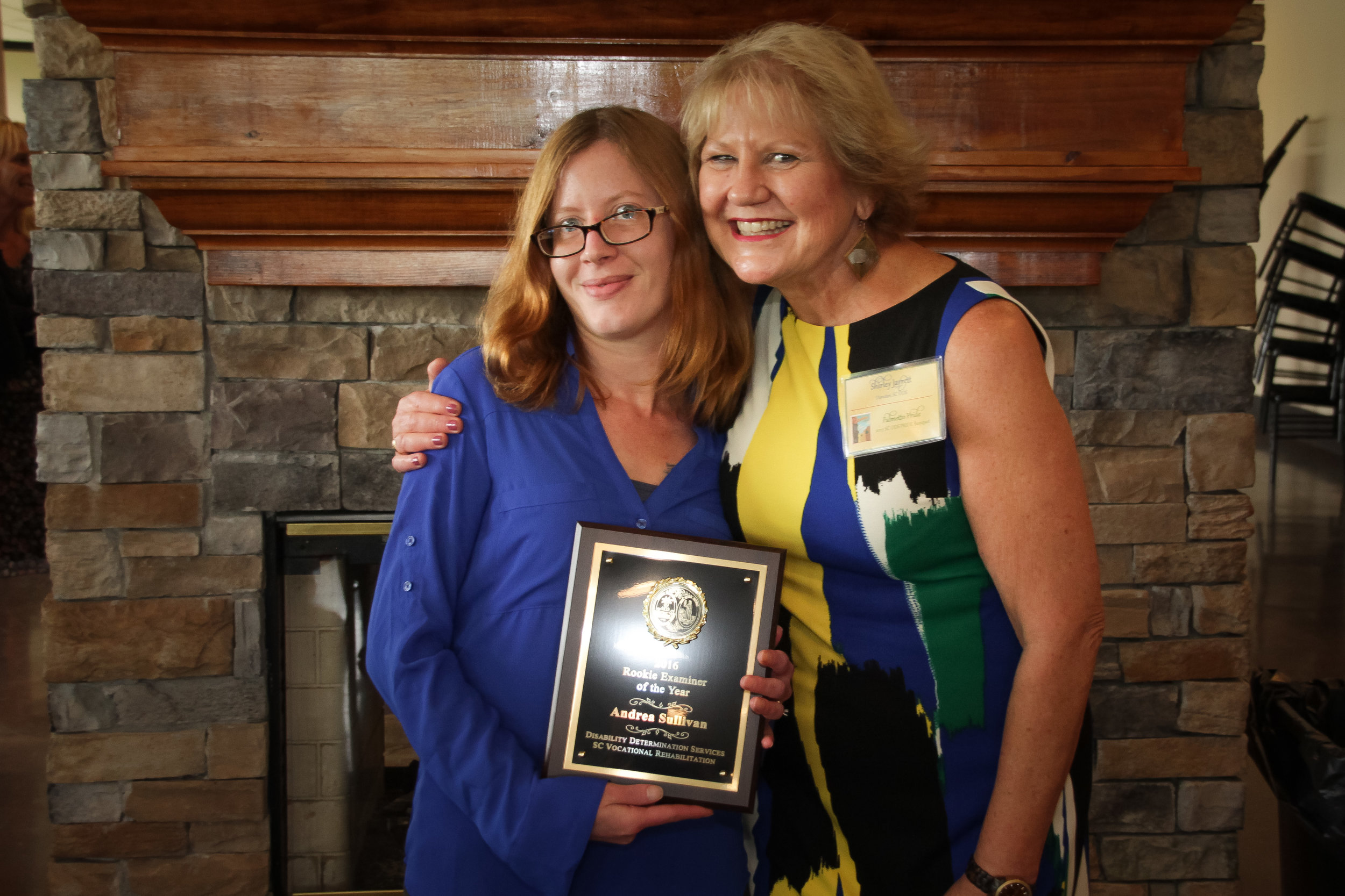 Rookie Examiner of the Year  Andrea Sullivan - Greenville DDS Shirley Jarrett, Disability Determination Services (DDS) Director