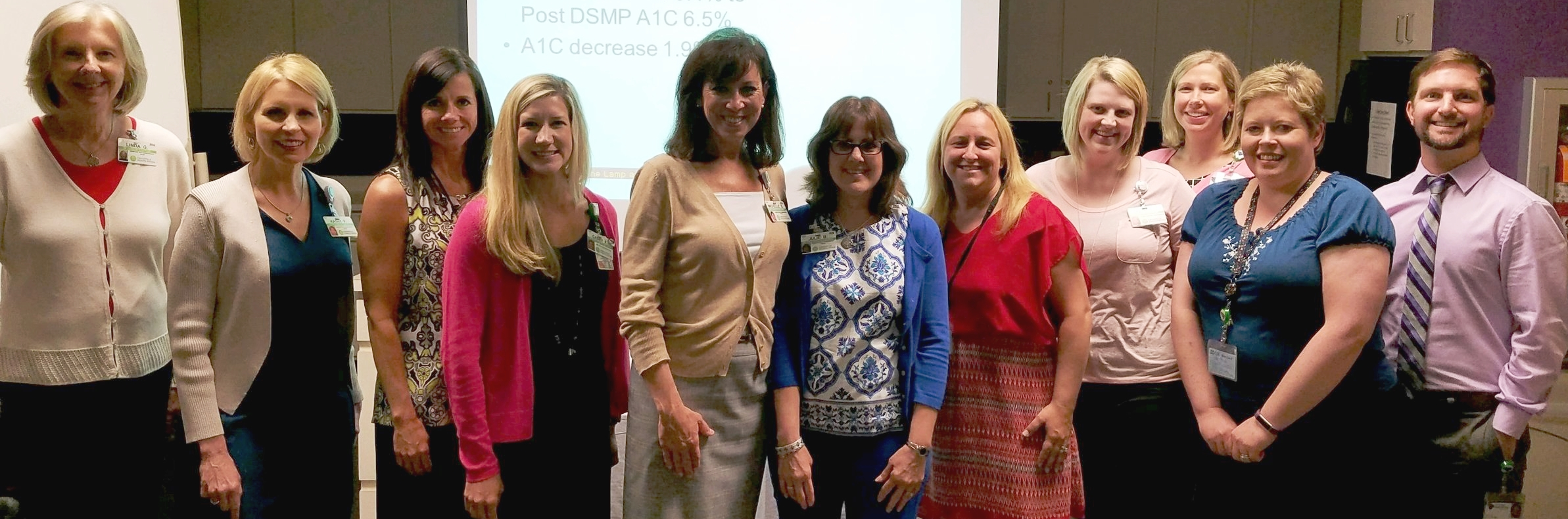 Left to right: Linda Goller, Kathy Fincher, Cheryl Holcher, Casey Fiocchi, Michelle Stencil, Julie Bolderson from Greenville Health System; Christine Nemshick-Lauer, Greenville VR Counselor; Kelli Alexander, Greenville Health System; Ginny Hughes and Sallie Housley, Greenville VR Counselors; Bradyn Roddy, Laurens VR Counselor.