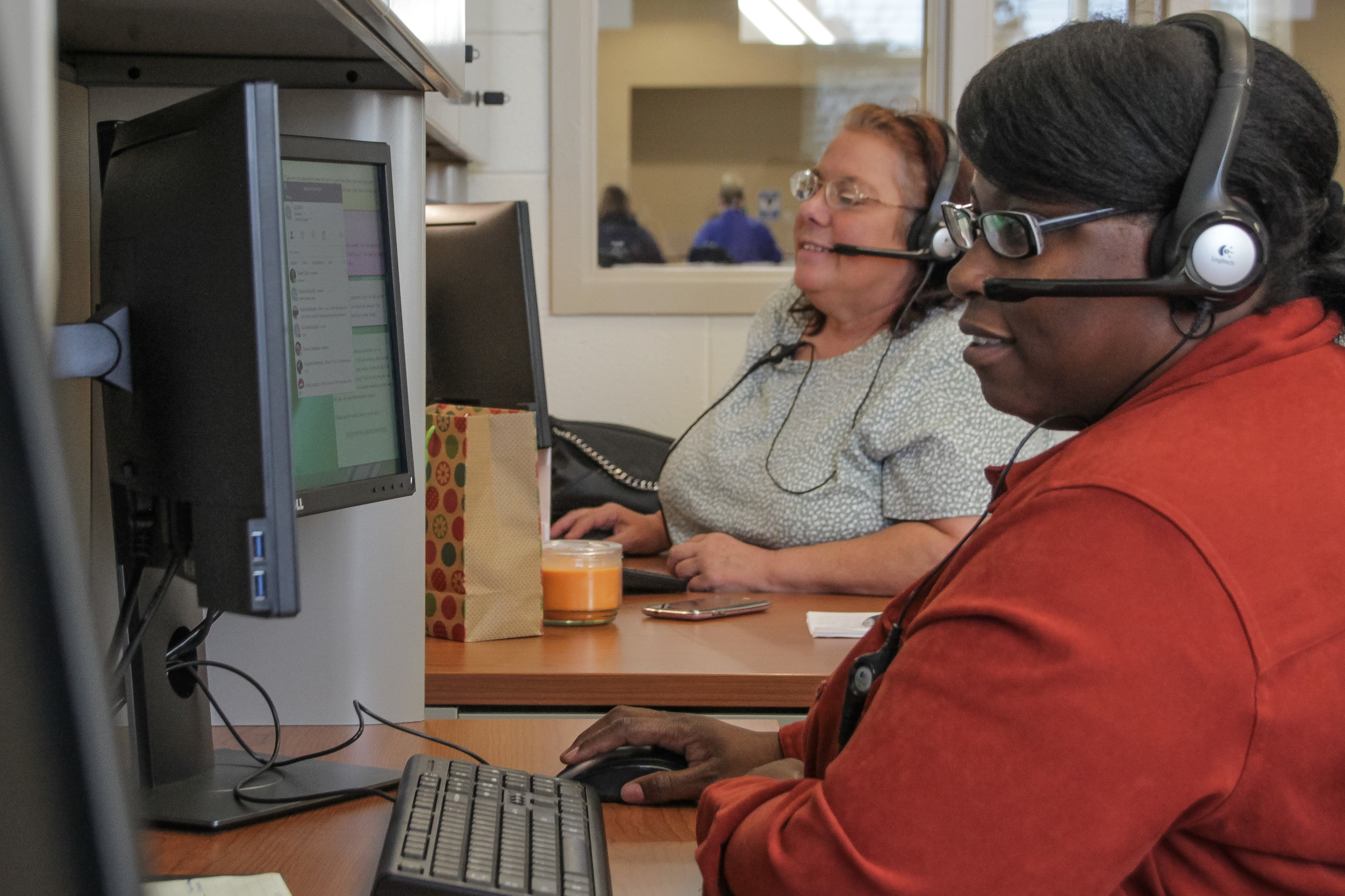 VR clients in the BPO American call center.