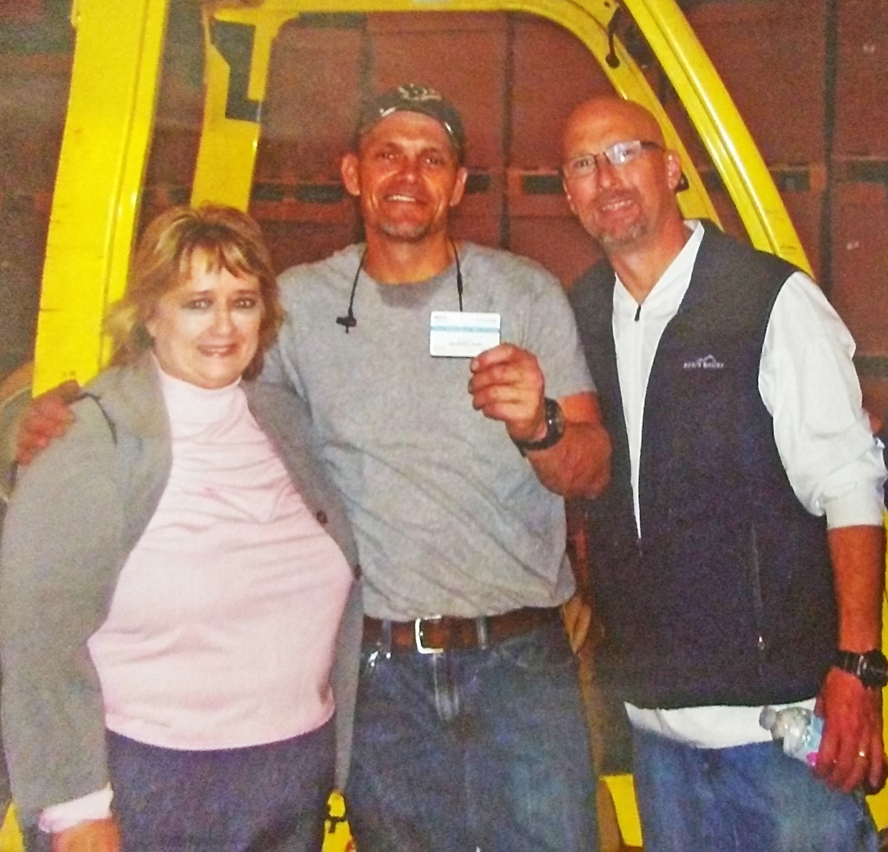 (left to right: Lisa Gilliespie, Area Supervisor; Kristopher Brown, VR consumer, John Lee, manager at Fischer Packaging & Automation.