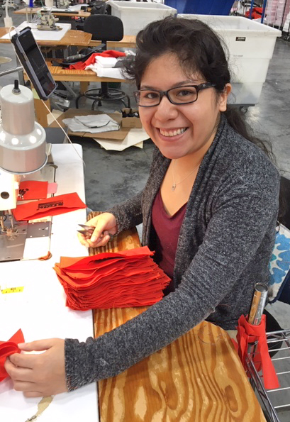 Juana Ospina, sewing machine operator at Grand Forest in Summerville.