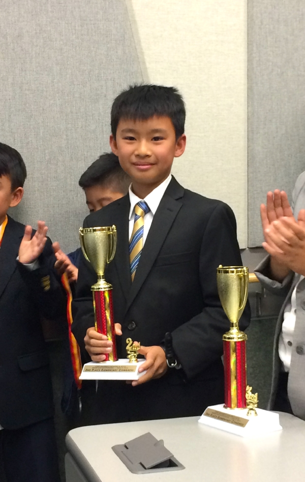 Winning 2nd Place in Elementary Congress