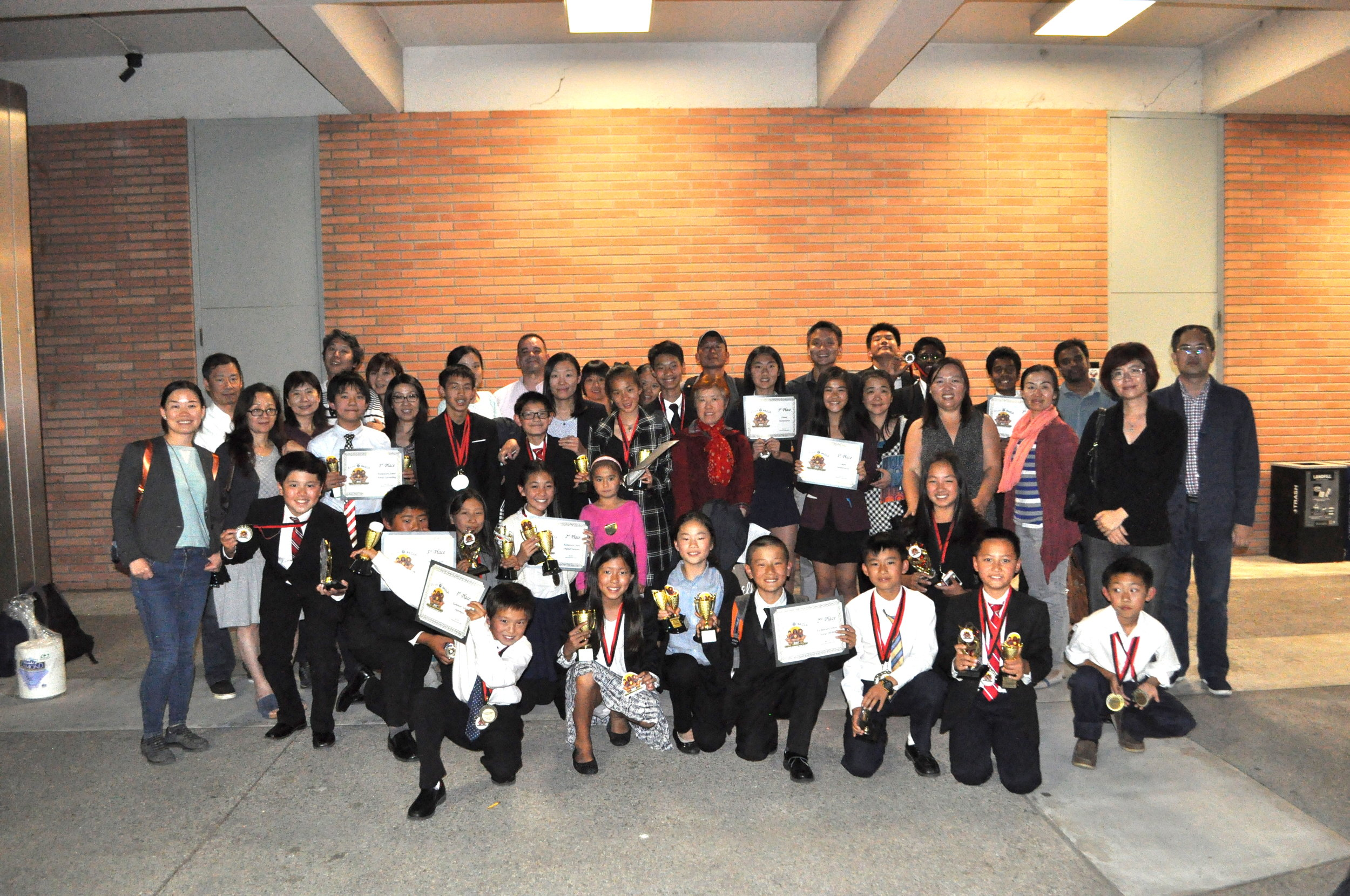 Congratulations to everyone who competed in the May 13th National Communication Arts Championship!  We had an incredibly successful tournament. We won more than 80 medals, which is more than the next 4 teams combined! We won at every age level - elementary, middle, and high school. We won in every type of event - writing, film, limited preparation, memorized speech, interp (acting), and debate! No other team accomplished this. We are only team to train students to be well rounded and excellent across all speech events. Not only did we win with our experienced competitors, our first time and ESL students also won!