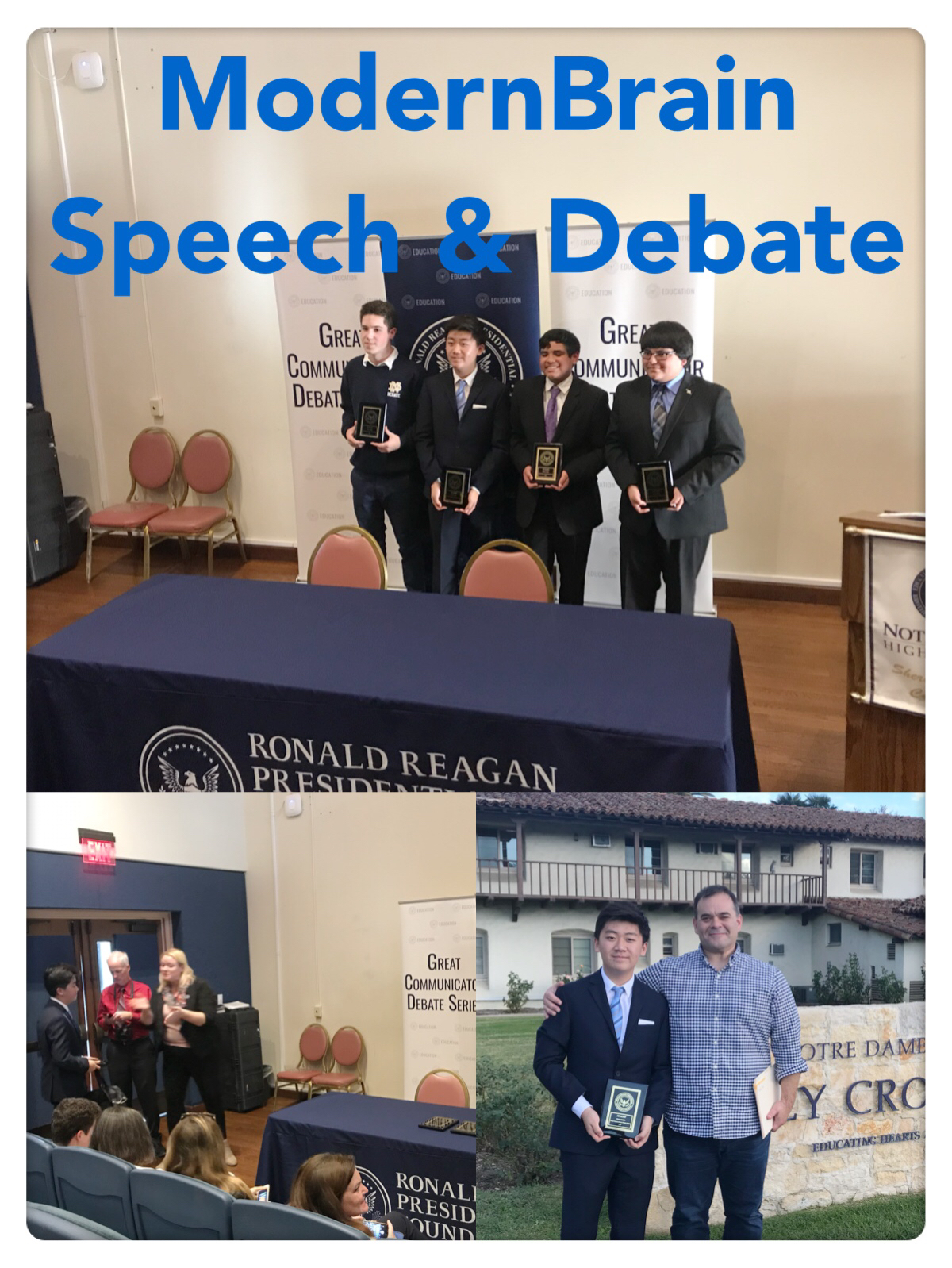 congratulations to our student Brandon Pae at Pacific Academy who competed at the the Ronald Reagan Presidential foundation Great Communicator Debate series. In his first attempt at a new style of Debate, he competed at a national level tournament, was a finalist, and qualified for a $3000 scholarship and a study in Washington DC program!