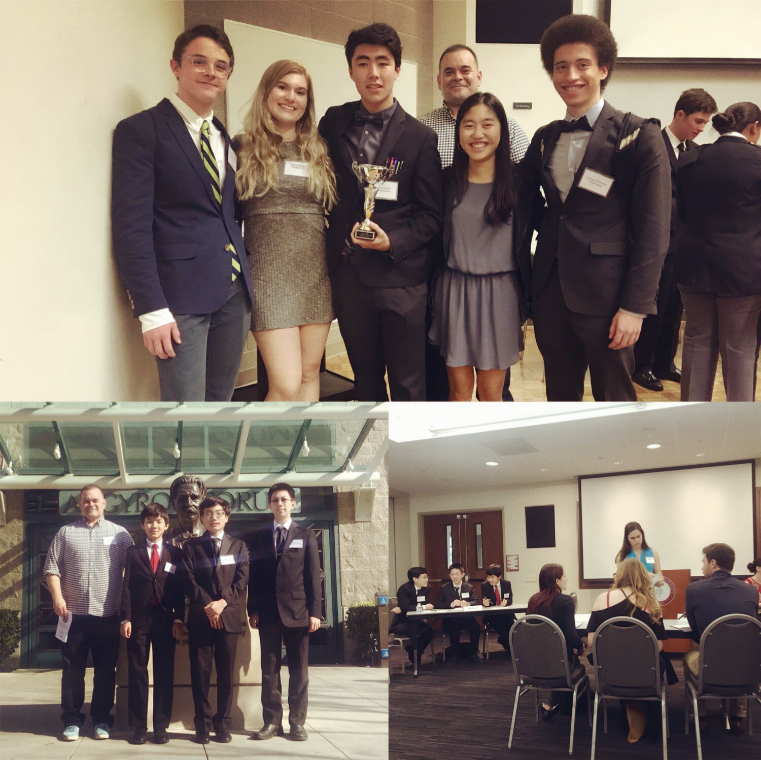 (Feb. 2018)  Top Speakers once again!  Congratulations to our teams from Polytechnic and Northwood high schools! At their first time competing at the regional championships of the High School Ethics Bowl at Chapman University, they were top teams at the event.  Polytechnic was undefeated in their preliminary rounds.  They won 1st place for best commentary  (top speakers) and 3rd place overall. Northwood had a nearly perfect record, losing only one preliminary round.  This is a truly amazing result because our teams were younger than every other team. Most teams were in the 12th grade. Our Polytechnic team is a team of sophomores. And our Northwood team was the only freshman team at the Ethics Bowl. They were also the smallest team, with only three students. Most other teams were 7 people.  We love to encourage our students to challenge themselves. The Ethics Bowl requires students to be able to think deeply about moral problems and to work together to find a solution. The judges are Philosophy professors at Universities. So, every student has to take care to be precise and to explain themselves at a college level of analysis.