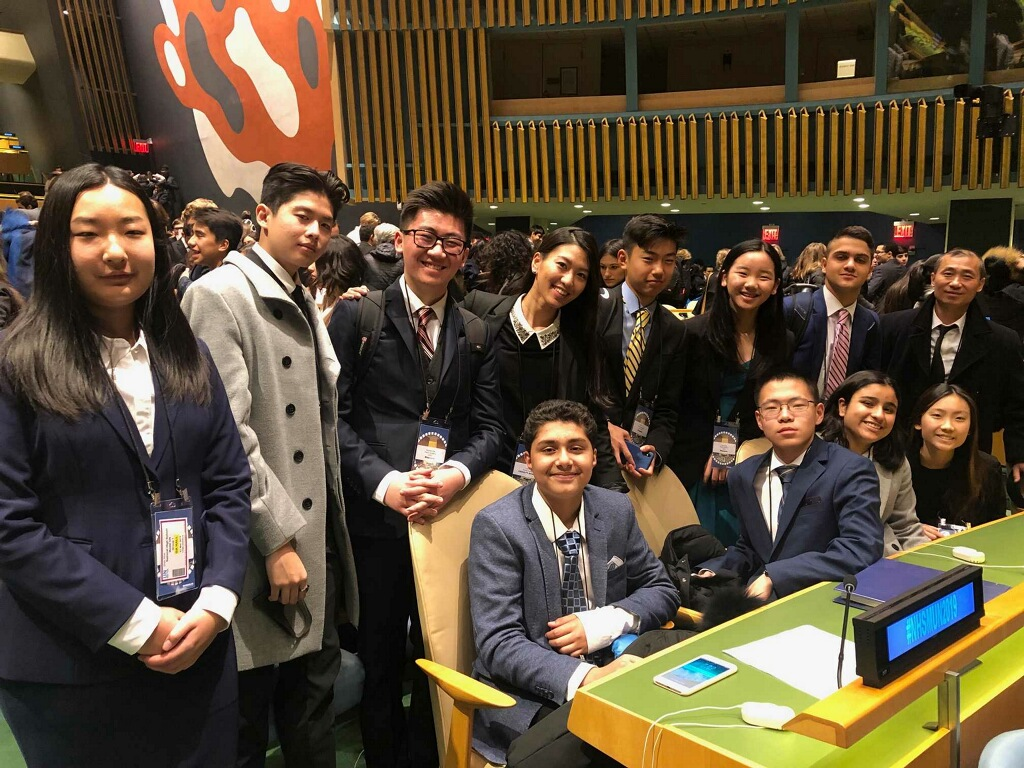 Award of merit winners at the UNited nations in new york