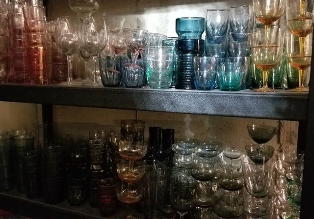 Colored glassware....I might be a little obsessed. I love it all! From vintage to modern. Sometimes it's the perfect prop in a photo that is otherwise lackluster. This is just a small part of my collection. #coloredglassware #coloredglass #coloredglasses #prop #props #propstylist #propstyling #prophouse #propcloset #propcollection #collecting #collection #hoarder #vintage #notenoughspace #foodphotography #foodphotographyprops #lovemyjob #proprentals #proprentalschicago