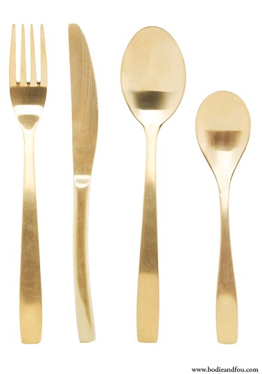 Elegant – 16 Piece Cutlery Set by  Bodie and Fou