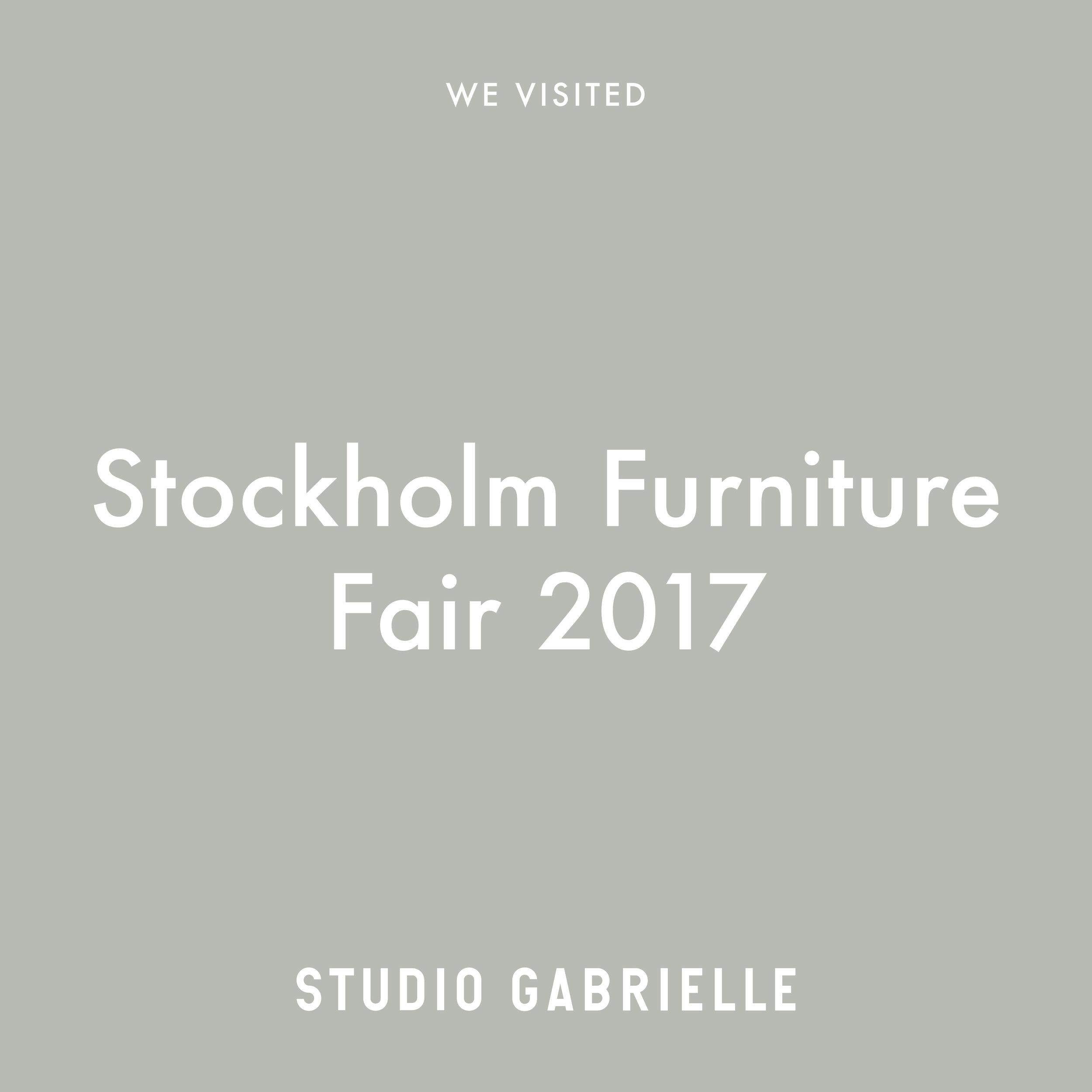 StudioGabrielle_StockholmFurnitureFair_2017