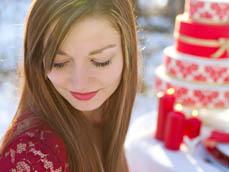 Desiree Mostad, Rivets and Roses, Styled Cake Shoot, Red Cake, Wedding Winter Theme, International Photographer