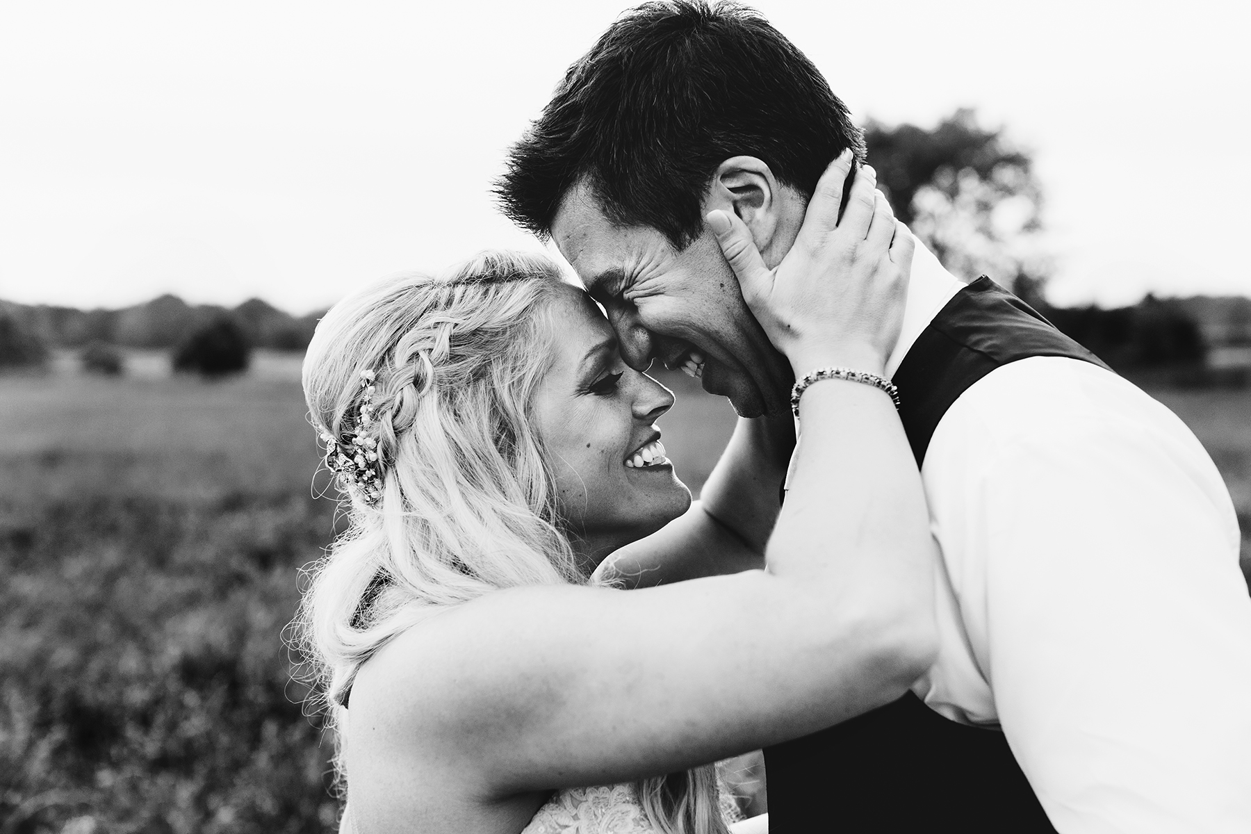 Can't get enough of this sweet moment between Kara and Ryan on their wedding day.  Wedding by:  Jess Ekstrand
