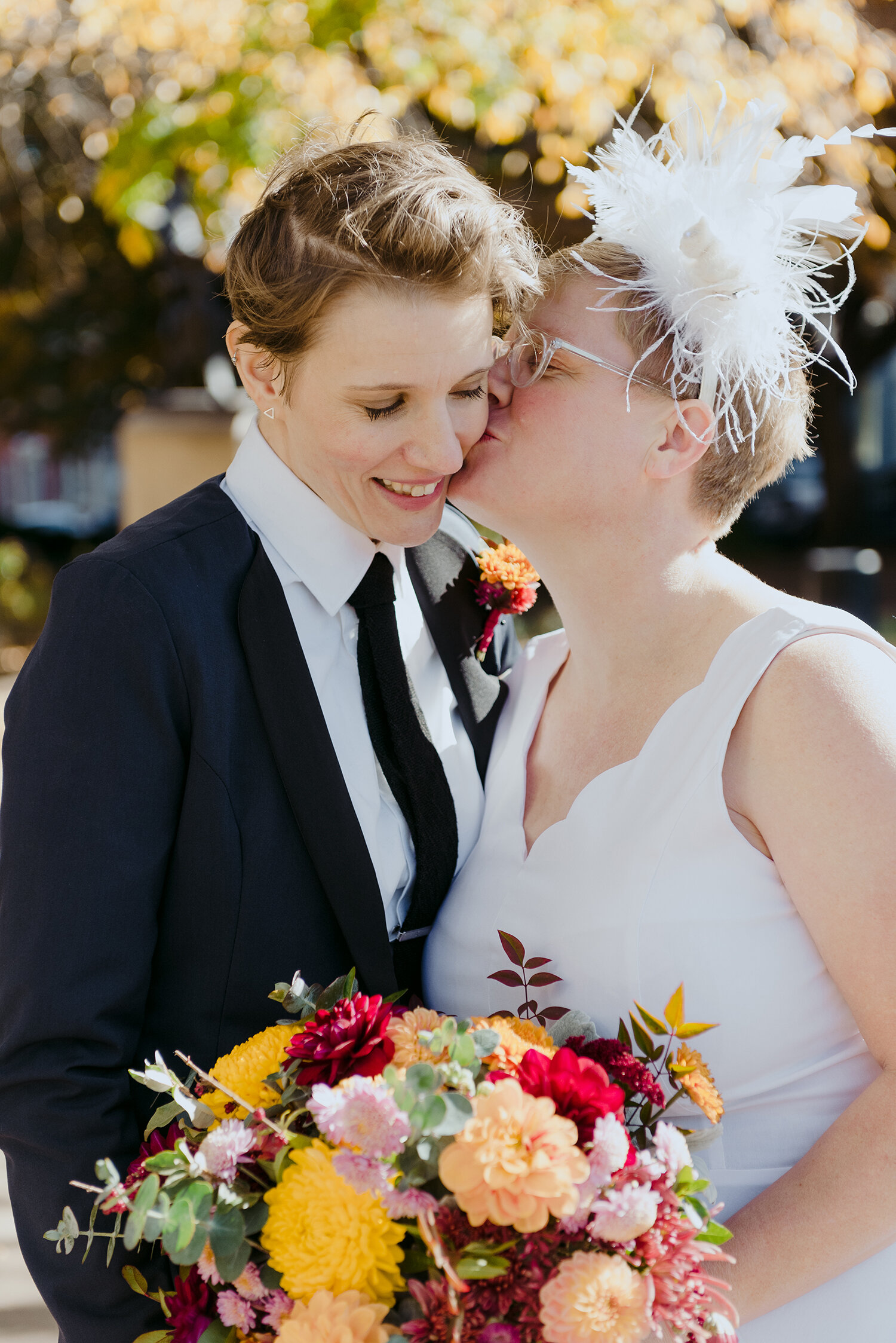 Lesbian and Gay Wedding Photographer | Rivets & Roses | Photo by Tara Sloane