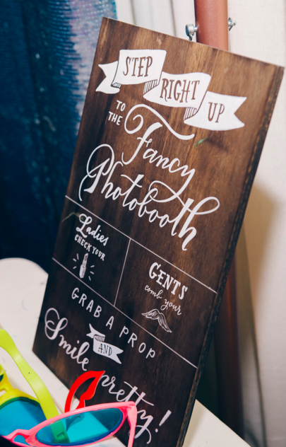 Hand painted wood photobooth sign