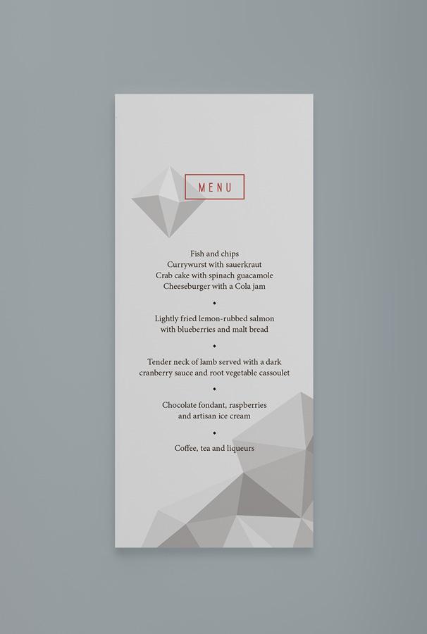 / gala menu