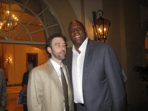 In May of 2010 I got a chance to meet my sports hero Magic Johnson at the yearly fundraiser that Dick Vitale holds for the V Foundation.
