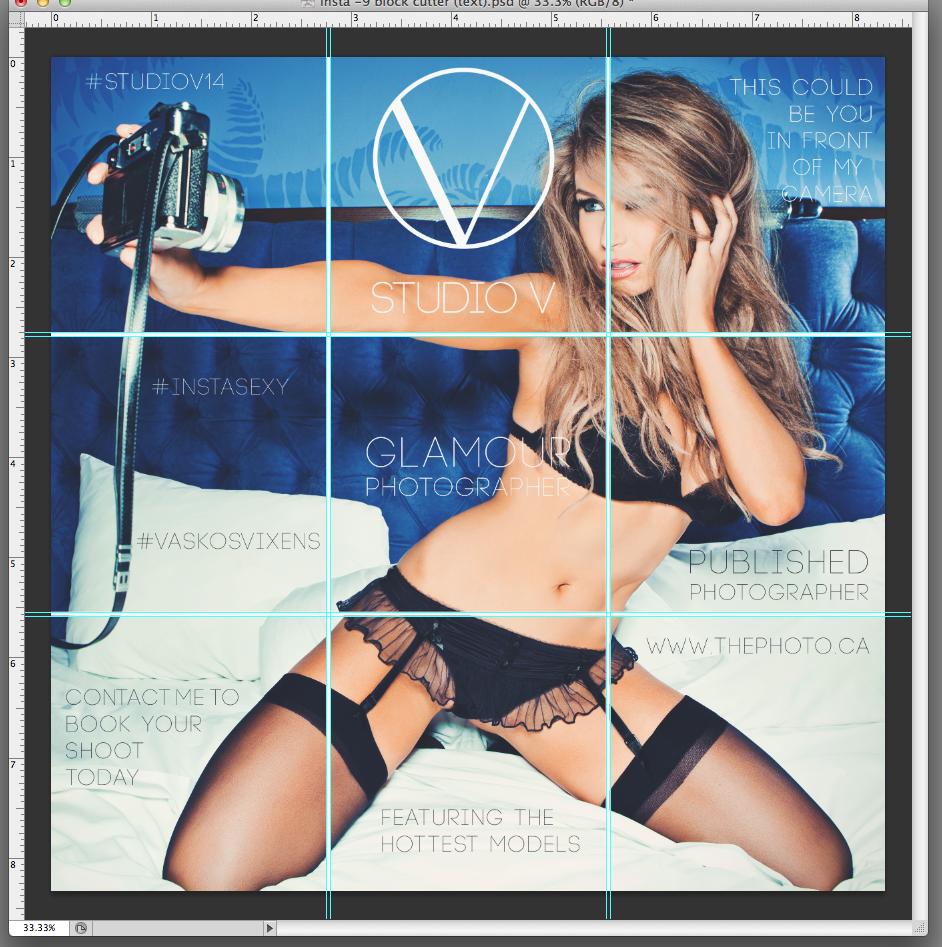 Studio V photography instagram promo