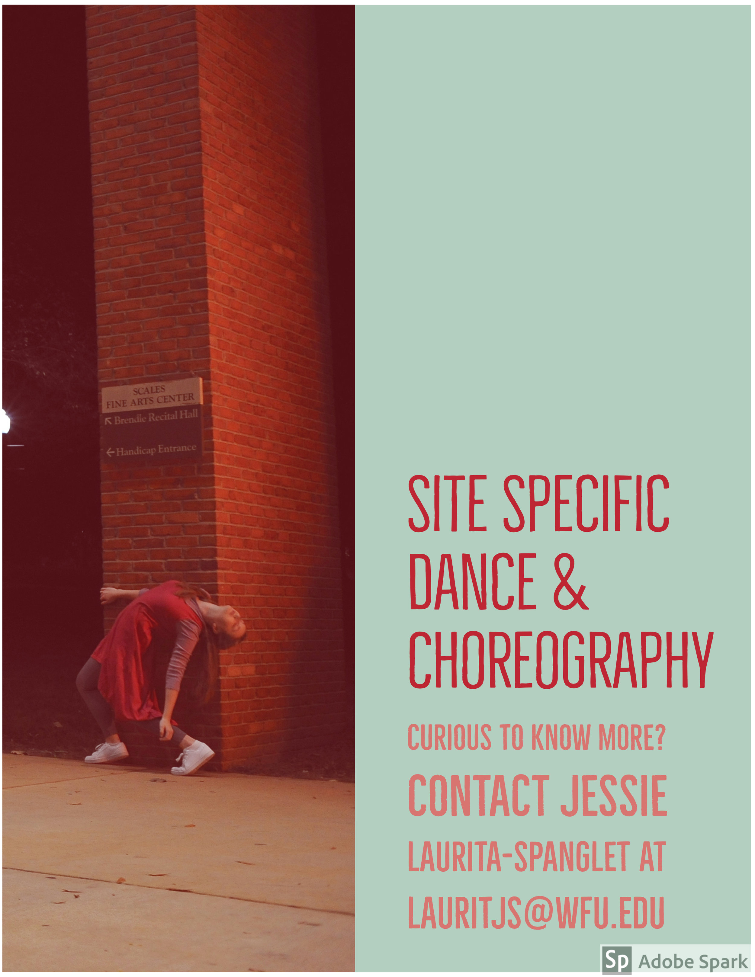 An eight-week Site Specific Dance and Choreography course on the Wake Forest Reynolda Campus.