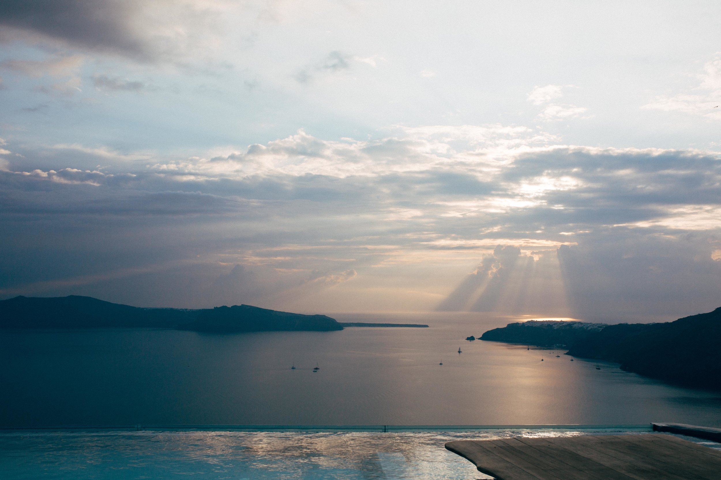 Sunset Watching - It's a must. You can grab a spot in Oia or pull over on the side of the road down the Caldera or...splurge on an amazing dinner and watch it at a table with a delicious meal.