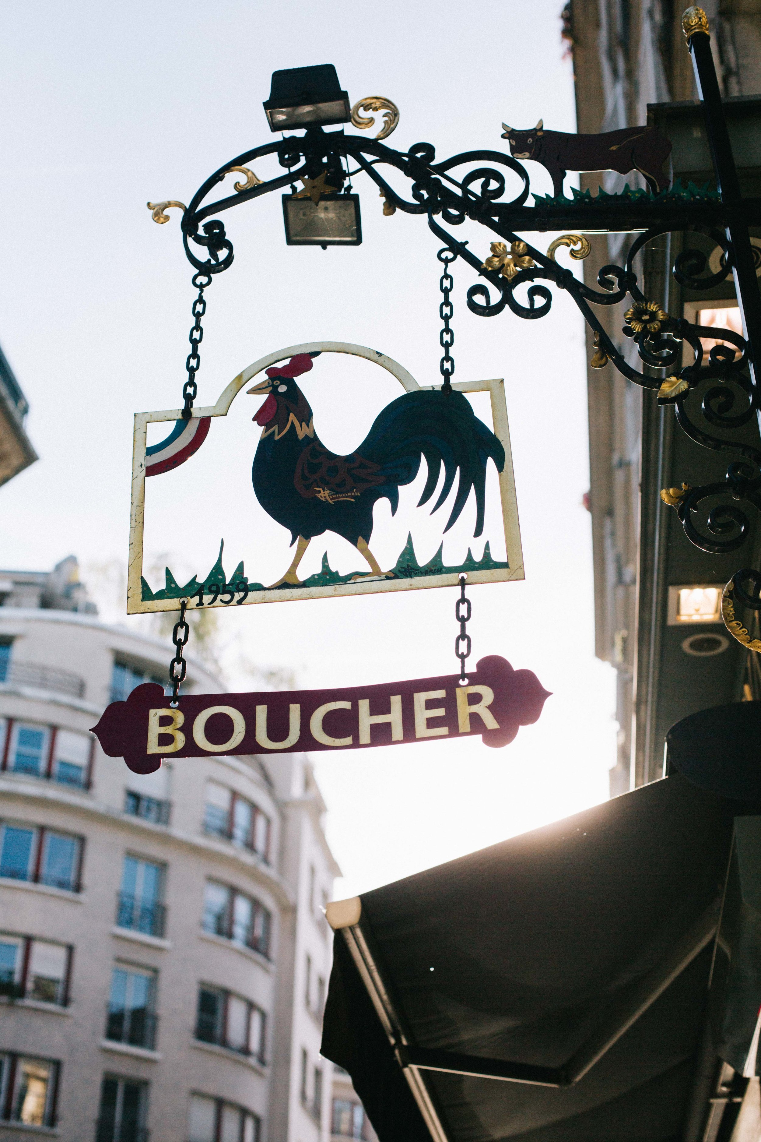 Charlotte Margot Photography Parisian streets butcher