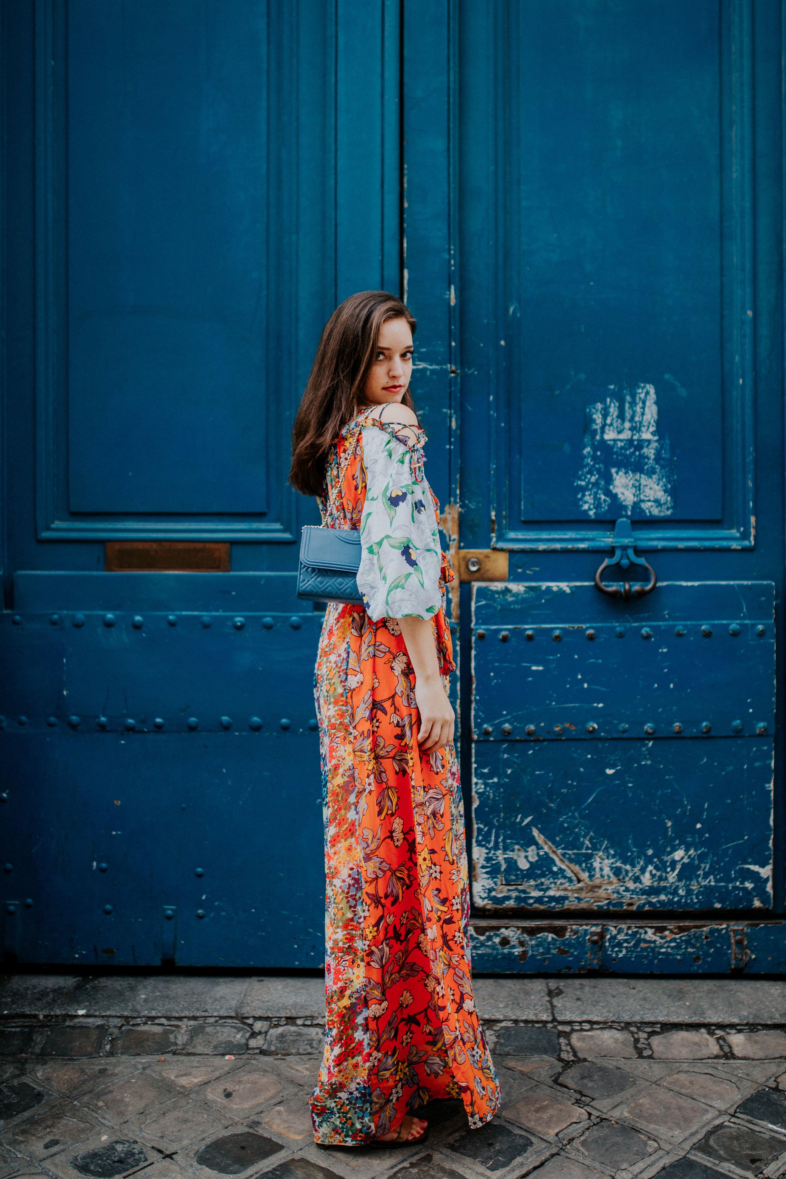 Doriana Ligorio - Look #7: Shasta Dress, Fleming Convertible Shoulder Bag