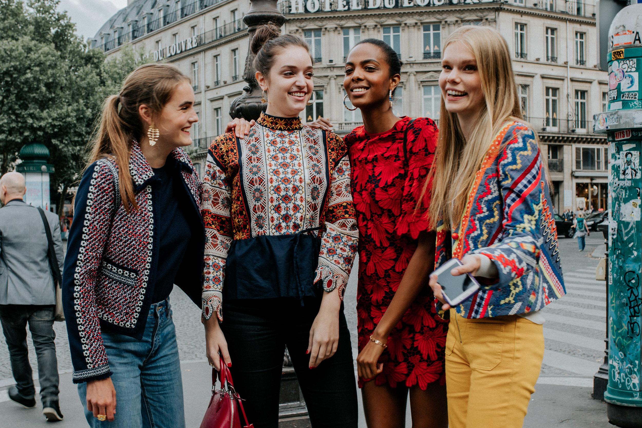 - Final Group Looks: Atasia's Dress, Lisa's Jacket& Jeans,Vita's Jacket & Pants, Doriana's Top,