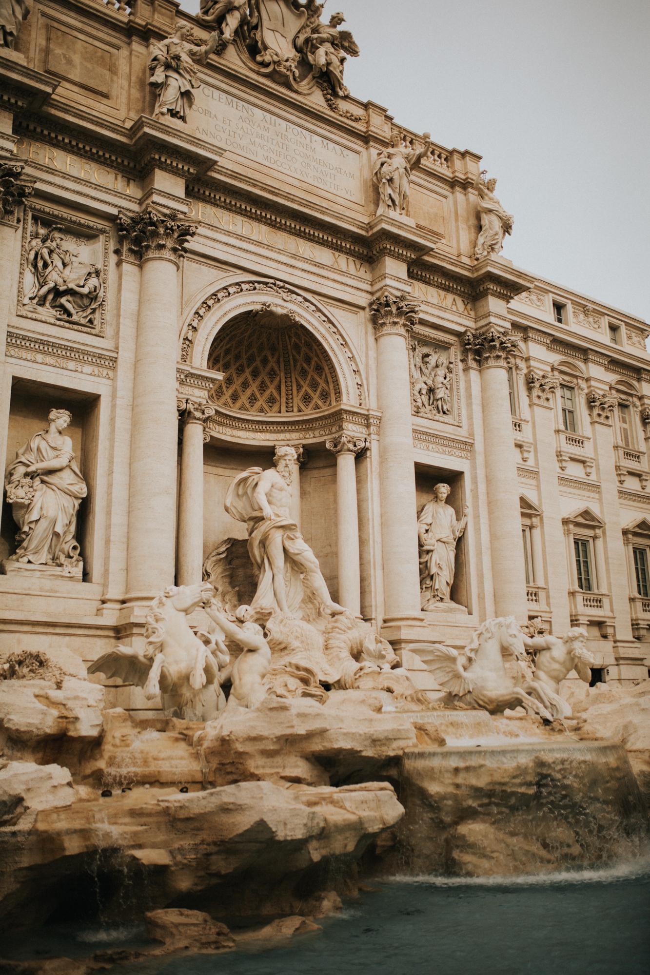 Italy - Rome Travel Photography - Trevi Fountain