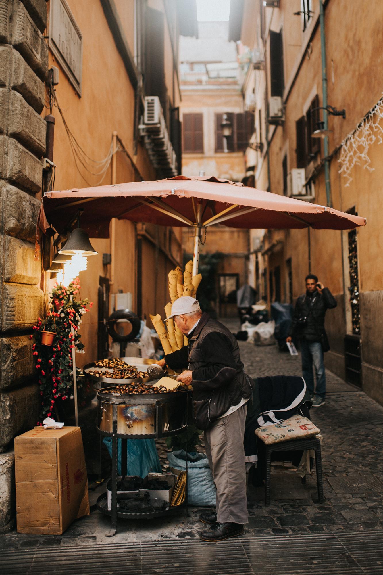 Italy - Rome Travel Photography - Chestnut Roaster