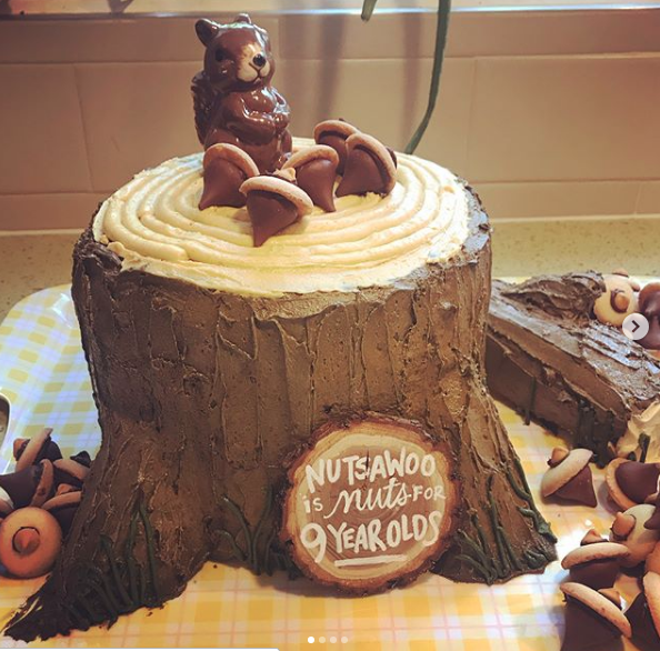 MORE CAKE PLEASE! - Howls of thanks to Incorrigible mom Amy O., who baked this amazing Nutsawoo birthday cake for the 9 year olds in her family!