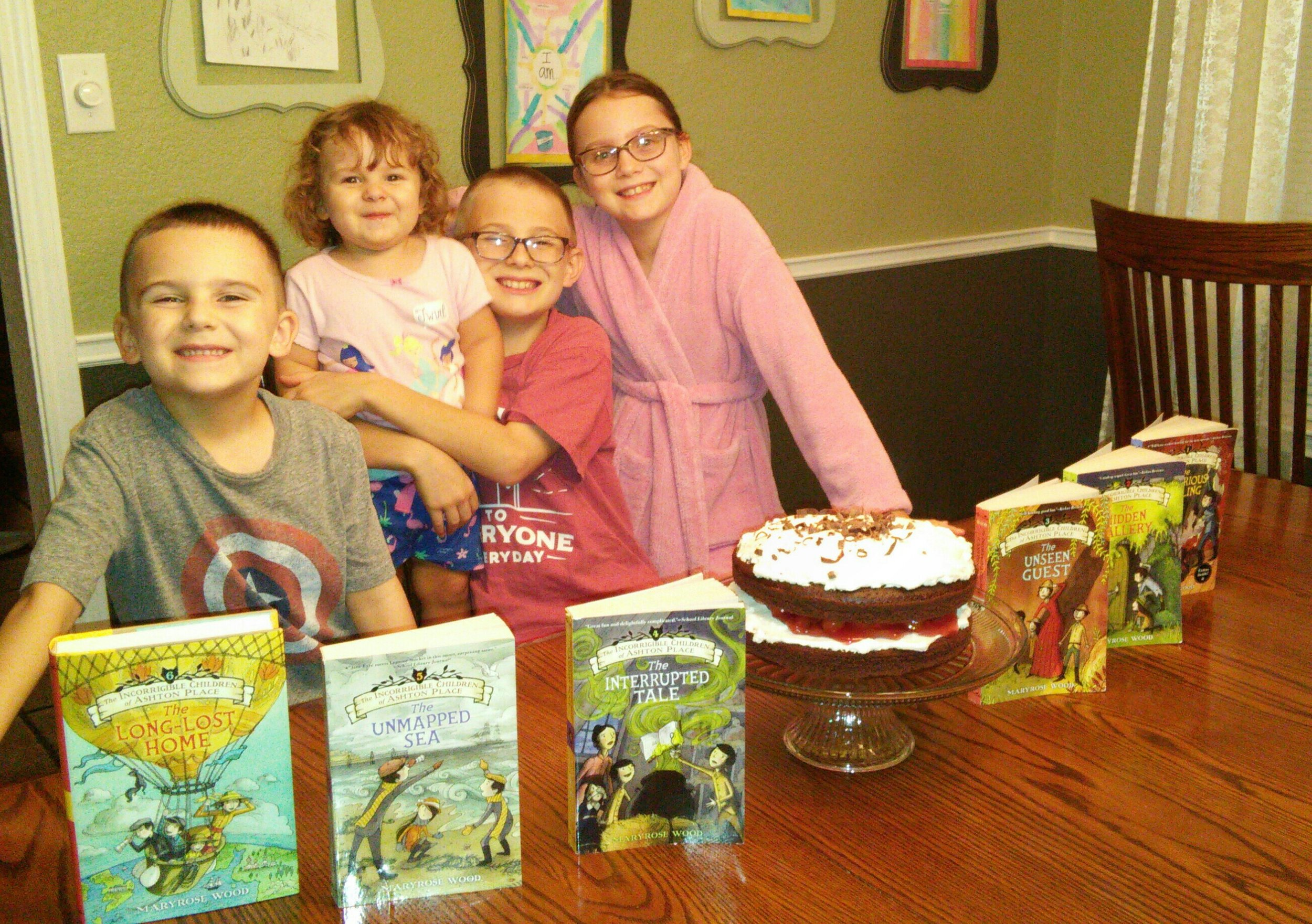 CAKE DAY! - Cake day, cake day! The best day of the year! These beautiful Incorrigible readers from Round Rock, Texas celebrated finishing the series by making a Black Forest cake! So much loveawoo to this family! xoxo