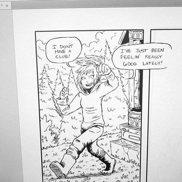 Lineart lookin' clean. Chargin' forward in this few hours before work. Rock on.  #art #instaart #comicart #comic #comics #graphicnovel #sketch #sketchpage #pencil #digitalart #photoshop #webcomic #wip #workinprogress #process #procrastination #goodtimes #goodday #coffeemage