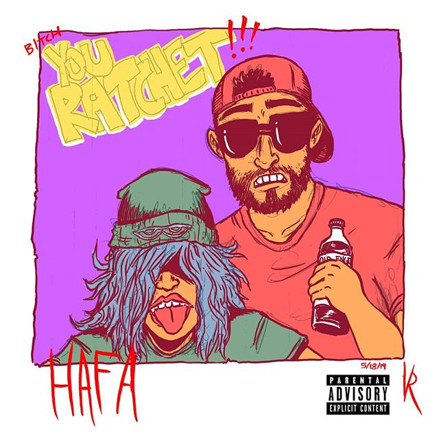 Made a track with my good homie yesterday, then we went back to my house and I made an album cover for it. We out here bein' ratchet.  #trap #rap #coverart #digitalart #photoshop #ratchet #bitchyouratchet #hafa #hafaman #albumcover #albumartwork #ep #parentaladvisory #colab #collaboration #coffeemage