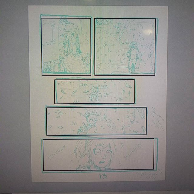 It's funny, whenever I scan a page in and lay down some panel borders on a grid, the original pencil lines always come preeetty close to the digital ones. It's been this way for quite some time. 🤔 Pardon the horrible quality. I needa get a new monitor for sure.  #art #comic #comicart #comics #webcomic #graphicnovel #sketch #sketchpage #layout #pencil #pencilandpaper #digitalart #photoshop #process #wip #workinprogress #funstuff #coffeemage