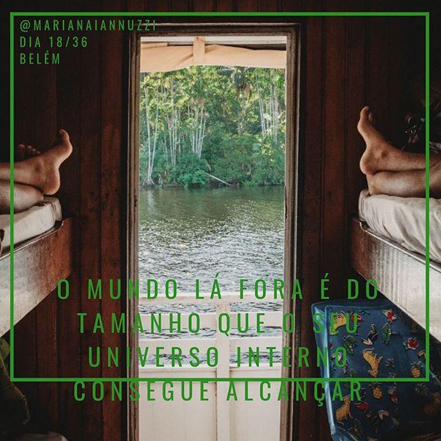 Alargar as dimensões internas, transpor o que vive dentro de suas convicções... acessar o inimaginável, ultrapassar o contexto que delimita as fronteiras do que pensamos e sentimos... seguir a sede alma que nos leva até o tempo de se mergulhar nesta imensidão. _____ 📷 @fernandomarrera _____ #dia18/36 #diariodeviagem #belem #amazoniaparaense #belemdopara #deeptravel #amazonia #amazoniatrip #traveling #viajandopelobrasil