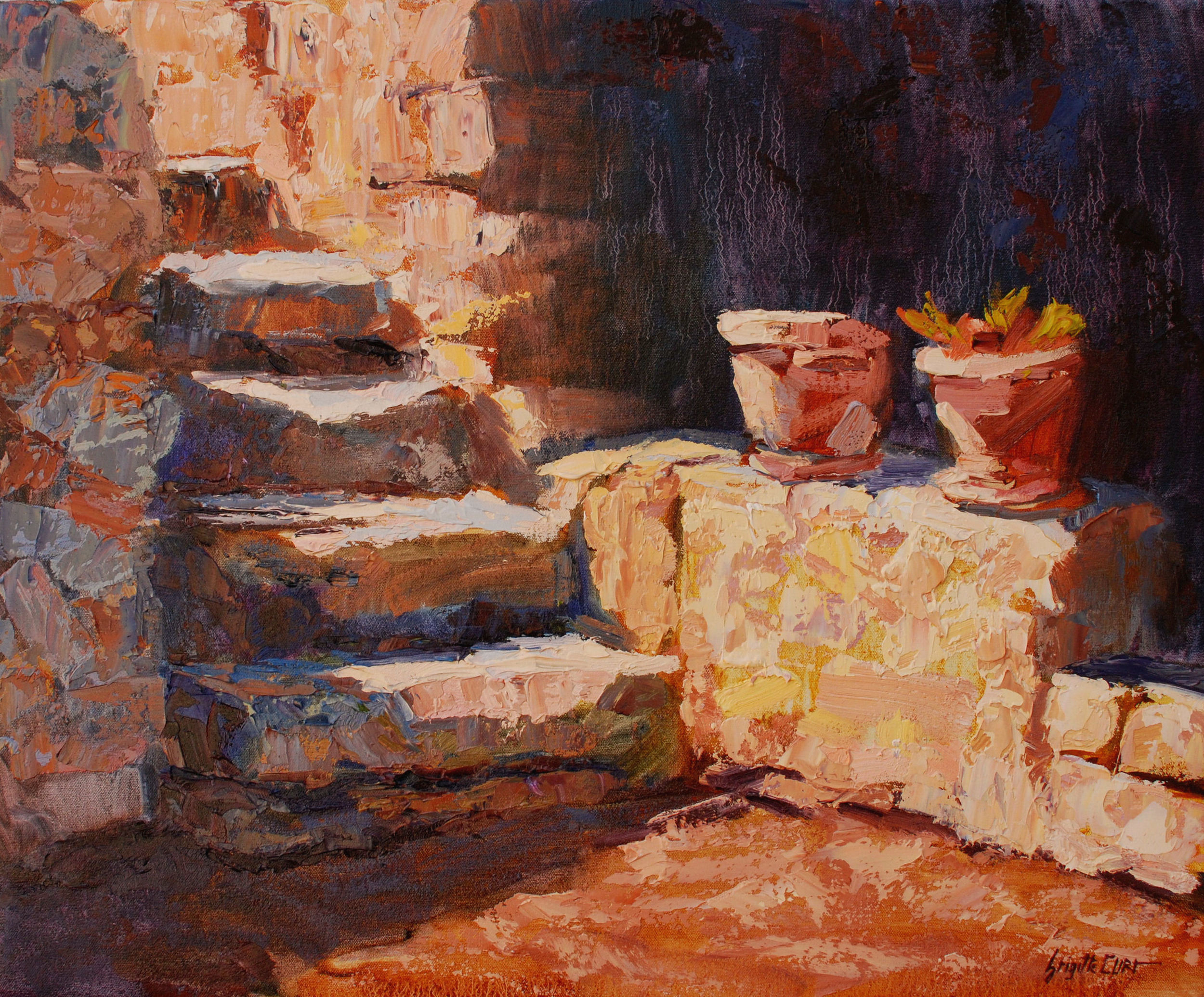 Stairs to the Garden 20 x 24.jpg