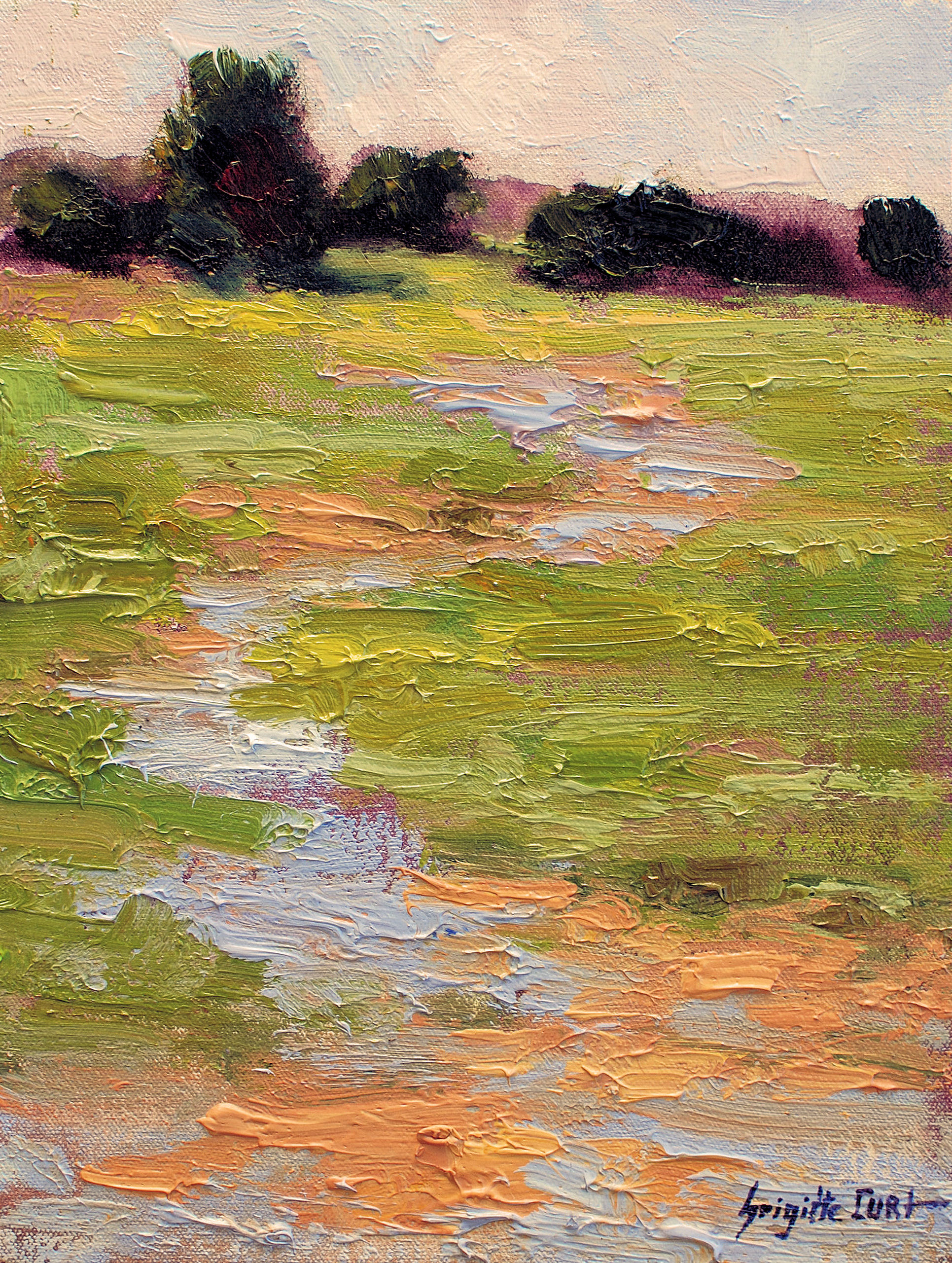 Stream in the Prairie 12 x 9